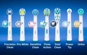 Διαφορες κεφαλες για ηλεκτρικη οδοντοβουρτσα